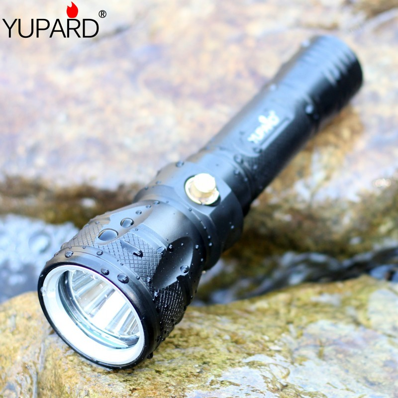 Yupard Xm-l2 T6 Led Flashlight Waterproof Lamp Torch Tactical Camping Outdoor Torch+2* 2200mah 18650 Battery+charger Led Flashlights Led Lighting