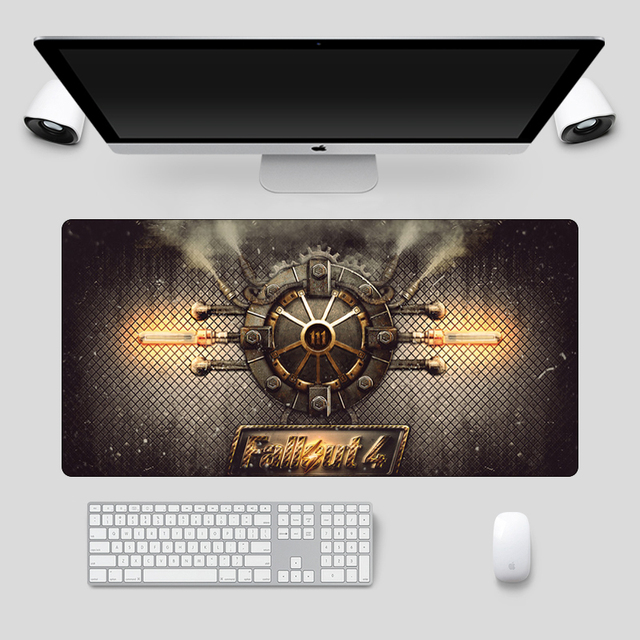 Fallout 4 Mousepad Anime Mousepad Large 60x30cm Fashion Soft Rubber Locking Edge Cartoon Computer Gamer Keyboard Desk Mat
