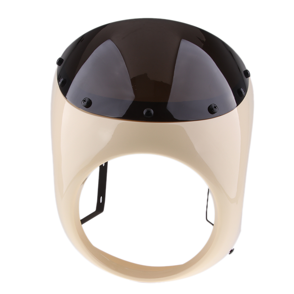 Image 3 - Motorcycle Retro Front Headlight Fairing WindScreen Screen Plastic Universal For Cafe Racer motorcycles headlight WindScreenCovers & Ornamental Mouldings   -