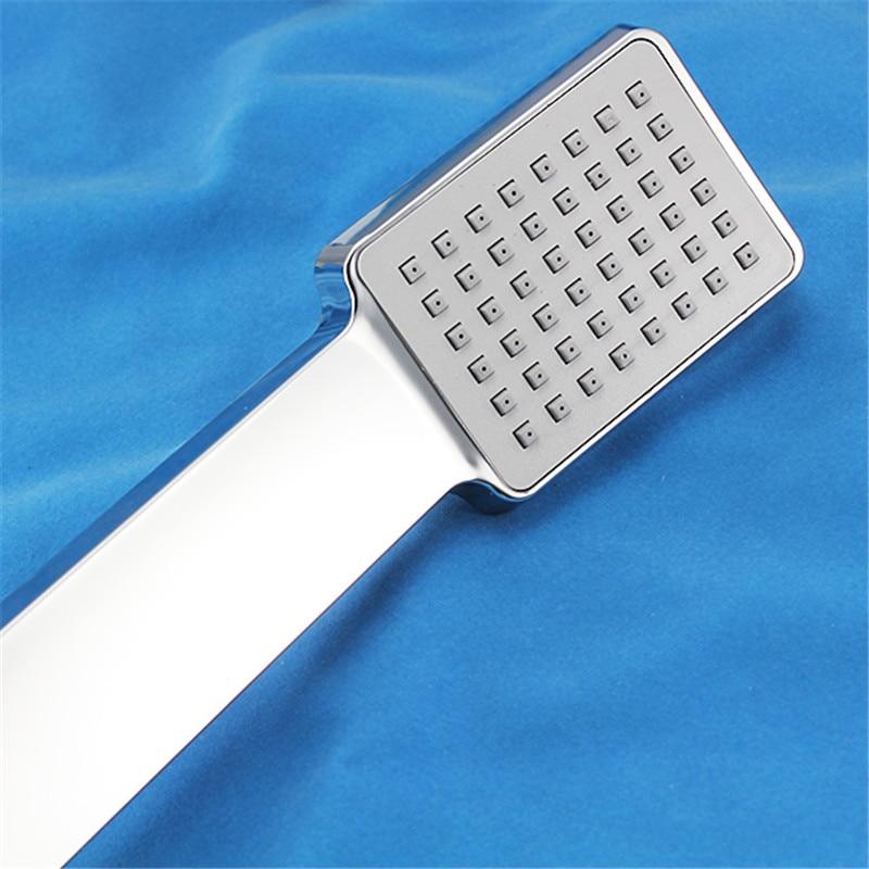 1 шт., ручная квадратная душевая головка для ванной комнаты, пластиковая насадка для душа, распылитель высокого давления, вода ABS+ TPR, аксессуары для ванной комнаты