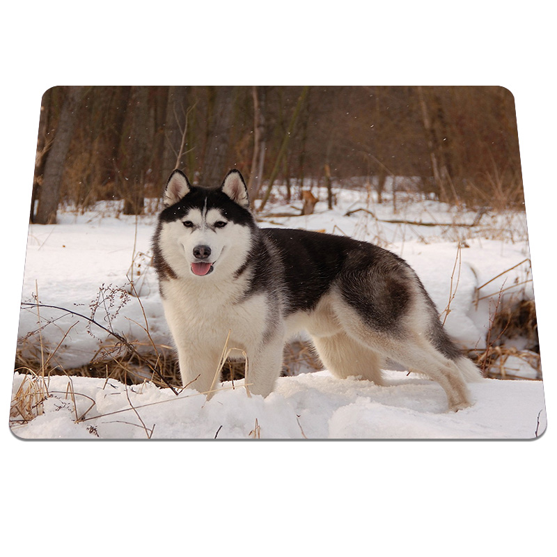 Cool Style Husky Dog Pattern Gaming Mouse Pad PC Computer Laptop Soft Rubber Mousepad An ...