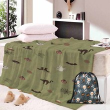 Custom DIY Print Blanket Halloween Funny Castle Dead Tree Cross Throw Comfort Warm Soft Plush For Sofa Dropship