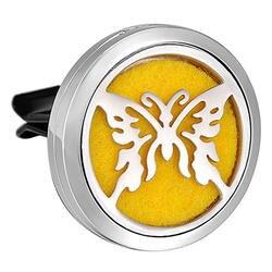 316L нержавеющая сталь бабочка автомобильный освежитель воздуха ароматерапия эфирные масла диффузор Vent клип 30 мм
