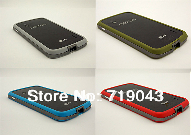 1PCS 2 Color Choose FreeShipping New Borderline Bumper Frame case cover for Google Nexus 4 E960 LG, free shipping