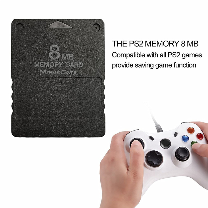 1 pcs 8 MB Memory Card Memory Expansion Card Suitable for Playstation 2 PS2 Black 8M 8MB Memory Card for PS 2 Wholesale
