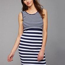 Новое Полосатое платье без рукавов для кормящих и беременных, грудное вскармливание, Одежда для беременных женщин, платья для беременных S-Extralarge