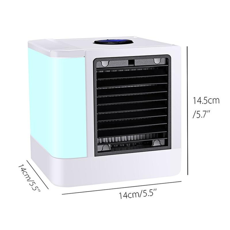 350W Silent and Portable Air Conditioner Powered by USB in 7 Color Lights with Low Energy Consumption 7