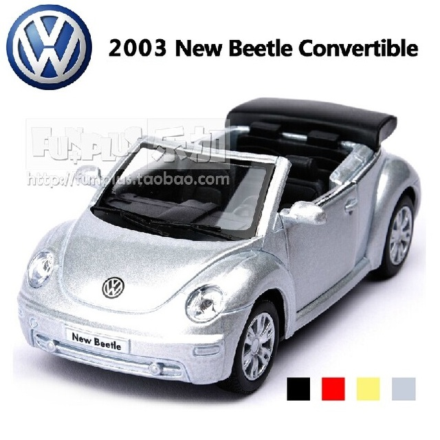 High Simulation Exquisite Baby Toys: KiNSMART Car Styling Volkswagen Beetle  Convertible 1:36 Alloy