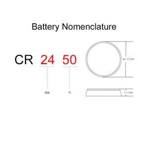 Image 3 - Pin Nút Áo Lithium Cell Pin CR2450 3V 2 Chiếc Đồng Xu CR 2450 Thay Thế 5029LC BR2450 BR2450 1W CR2450N ECR2450 DL2450 KCR2450 LM2450