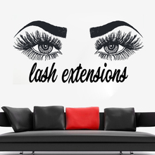 Lashes Extensions Wall Sticker Eyebrows Brows Make Up Wall Decals Beauty Salon Decoration Vinyl Lashes Sticker For Wall AY1082 art wall sticker lashes salon eyelashes decor vinyl removeable beauty salon decoration make up extensions eyebrows decal ly265