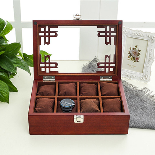 Top 8 Slots MDF Watch Storage Box Black Mens Mechancal Watch Display Case Simple Jewelry Fashion Women Gift Boxes C042 8 slots mdf watch storage box black mens mechancal watch display case simple jewelry fashion women gift boxes w042