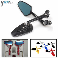 1 Pair Racing Universal Side Mirror Motorcycle Mirror Scooter Rearview Mirror For Yamaha YZF R6 R3 R125 T MAX T MAX TMAX 530 500