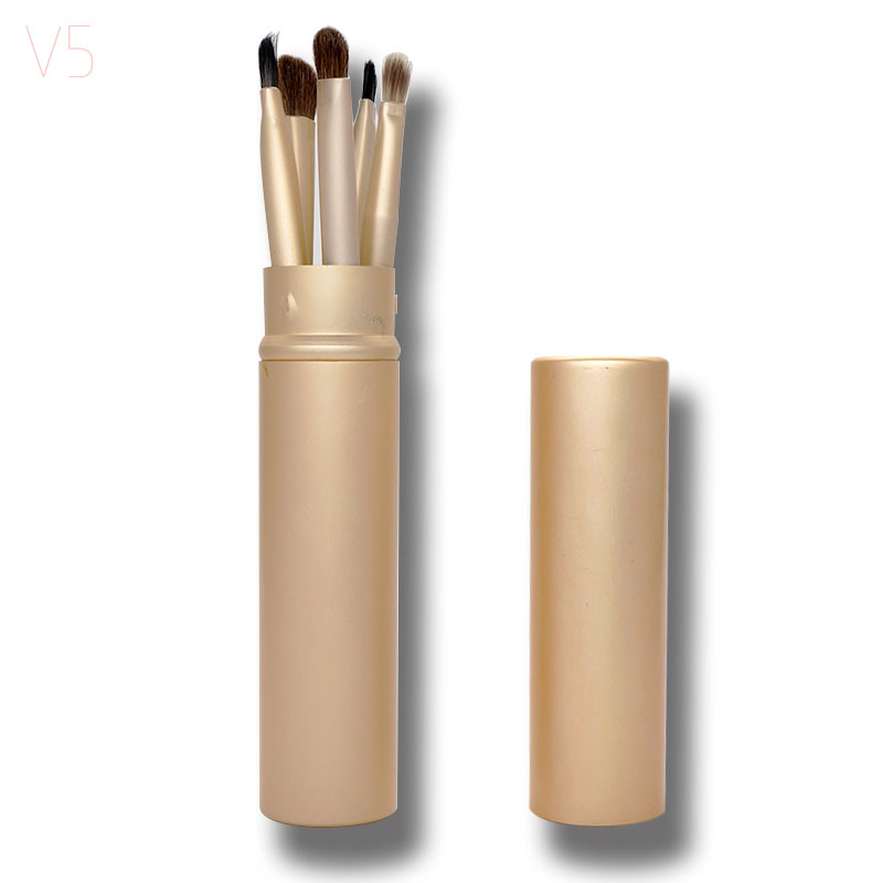 High Quality New Professional Pony Hair Eyeshadow Brushes Set & Kits 5pcs Black 5 pcs Makeup For Eye Tool Kit