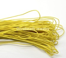 DoreenBeads 80M(3149-5/8″) Lemon Yellow Waxed Cotton Cord 1mm for Bracelet/ Necklace (B19328), yiwu