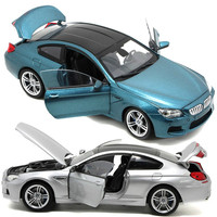 1:24 for BMW M6 Alloy Car Model Super Racing Offroad 4x4 Diecast Car Model Collection Gift Toys for Children with Display Stand
