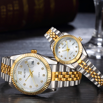 2psc Couples  Luxury Quartz Watch Set