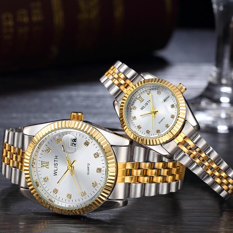 Couple Watch 2019 Mens Watches Top Brand Luxury Quartz Watch Women Clock Ladies Dress Wristwatch Fashion Casual Lovers Watch