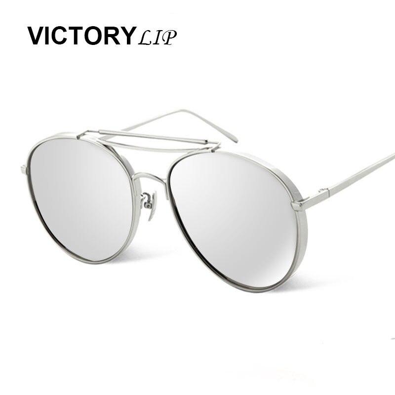VictoryLip Surdimensionné lunettes de Soleil Hommes Flat Top double-pont De  Luxe Femmes Marque Designer Cool Point UV400 Miroir Soleil Lunettes Mâle 539b693f8b57