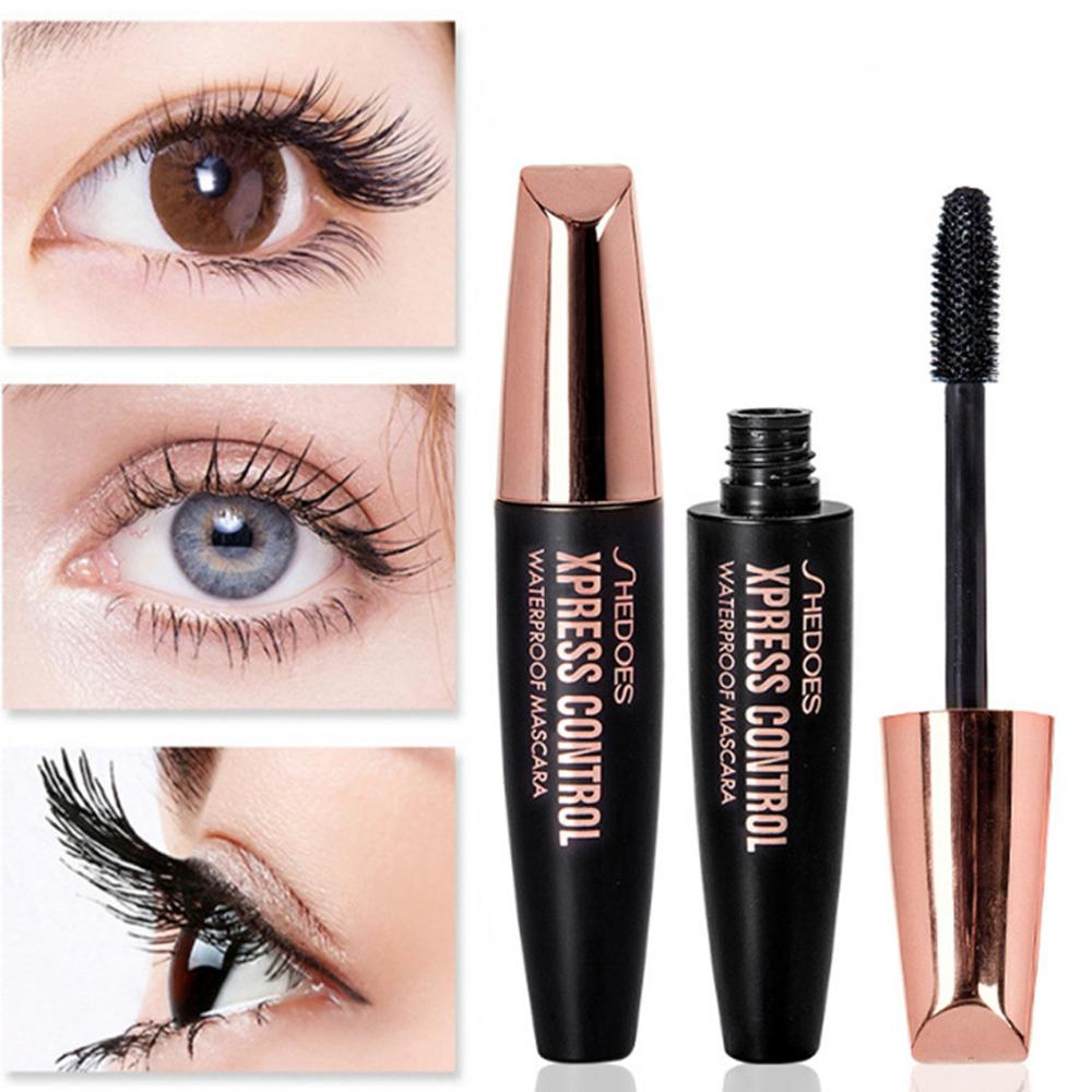 New 4D Makeup Lash Mascara Waterproof 3d Mascara For Silk Fiber Eyelash Extension Black Thick Lengthening Eye Lashes Cosmetics