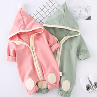Newborn Clothes Baby Girls Romper Hooded Clothes For Children Cute Baby Jump Suit Infant Clothing 2017