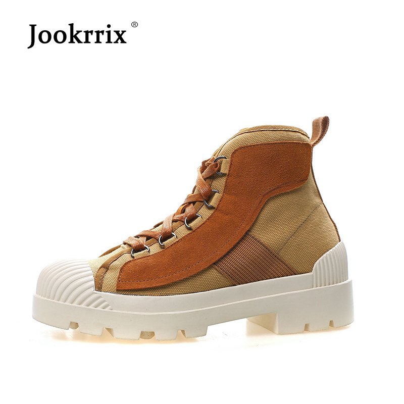 Jookrrix Shoes Women Fashion Brand Martin Boots Real Leather Lady chaussure Autumn Female footware Ankle Boots Breathable Black jookrrix autumn fashion boots women shoe metal decoration lady genuine leather zipper martin boot breathable black western style page 10