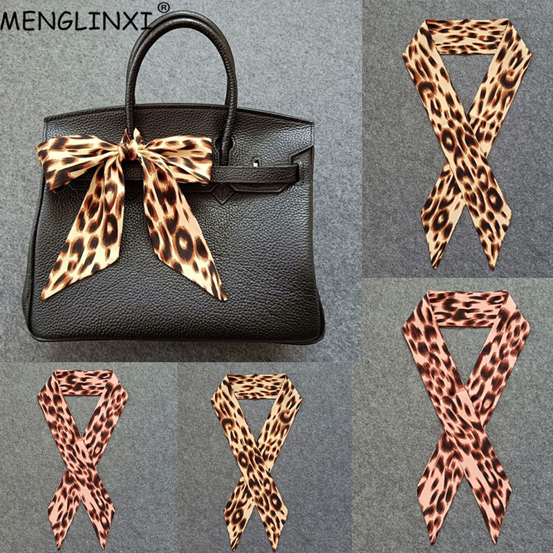 Leopard Fashion Women   Scarf   2019 Brand Bag   Scarf   Skinny   Scarf   For Women Head Neck   Scarves     Wraps   Dropshipping