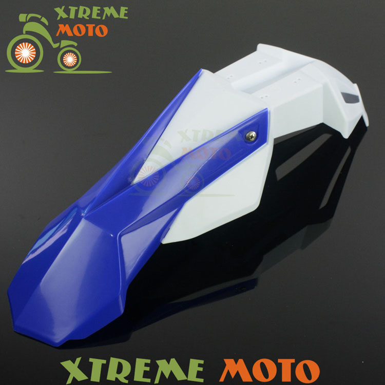Blue+White Front Fender Mudguard For Yamaha YZ80 85 125 250 250F 400F 426F 450F WR125 250 250F 426F 450F TTR250 DT230 Motocross