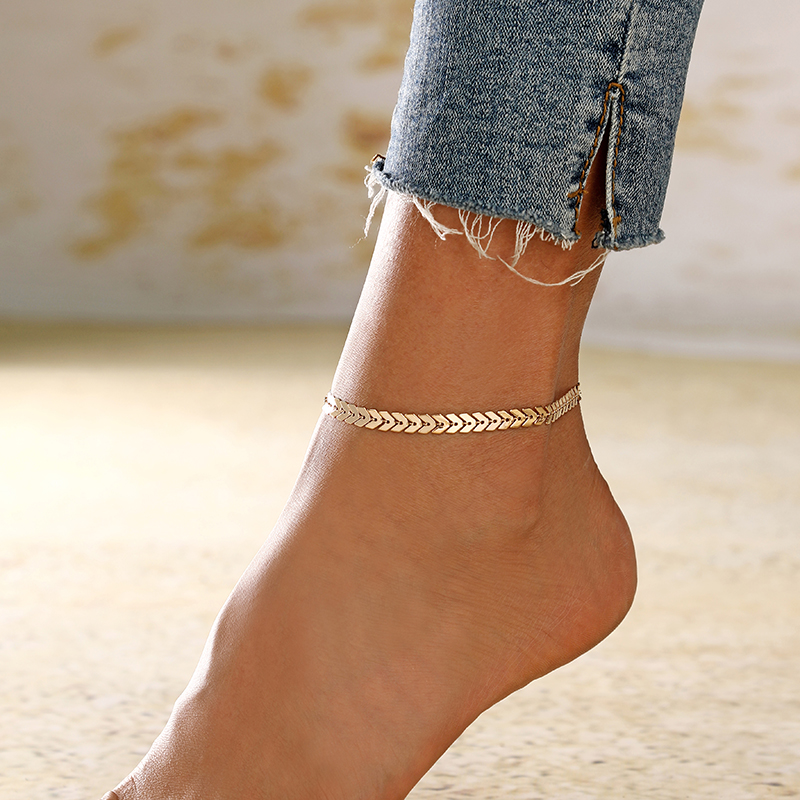 XIYANIKE 1pcs Summer Sexy Anklet Ankle Bracelet Barefoot Bohemian Style Arrow Sandals Foot Jewelry Leg Chain On Foot For Women