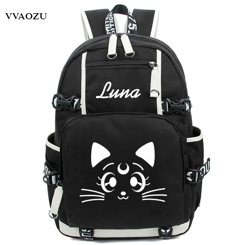 Harajuku Sailor Moon Luminous Luna Cosplay Backpack Rucksack Women Men Japan Anime Laptop Schoolbag Mochila Bookbag on i ona 1110 est chto libo priyatnee polovogo akta html