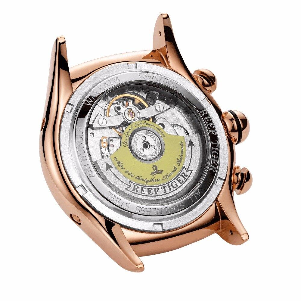 Riff Tiger Aurora Air Blase II Rose Gold Automatische Herren Uhr Und Aurora Papagei Rosa Zifferblatt Frauen Uhr Set - 4