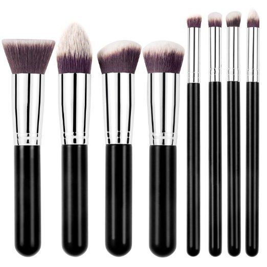 Três cores 8 PCS pincéis de maquiagem maquiagem cosméticos fundação mistura escova Kit de maquiagem frete grátis