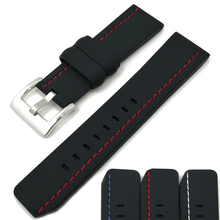 MJeess Generic Watchband Silicone Rubber Watch Strap Bands Waterproof 22mm 24mm 26mm Watches Belt Bracelet все цены