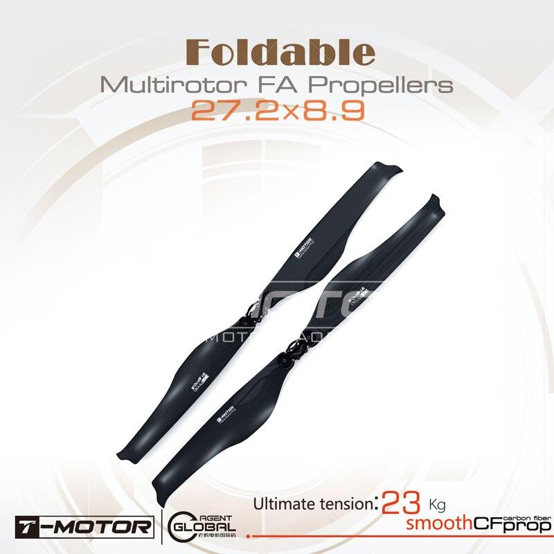 T-motor Tiger Motor Carbon Fiber FA27.2×8.9-2PCS/PAIR Folding Prop For Copters RC Drones