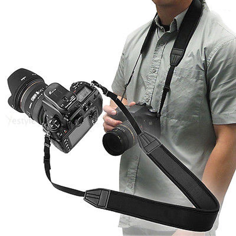 Регулируемый эластичный неопреновый шейный ремешок Mayitr 1 шт., высококачественный ремешок для камеры, ремень для Canon Nikon Sony Pentax DSLR