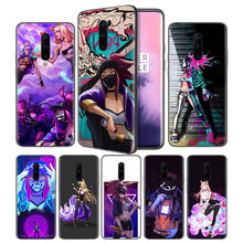 lol kda kaisa Ahri akali Soft Black Silicone Case Cover for OnePlus 6 6T 7 Pro 5G Ultra-thin TPU Phone Back Protective