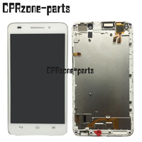100 Warranty White FOR Huawei Ascend G620S LCD Display Screen Digitizer Touch With Frame Assembly By