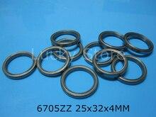 6705ZZ bearing free shipping 6705 6705ZZ 25 x 32 x 4 mm chrome steel deep groove bearing metal sealed bearing Thin wall bearing