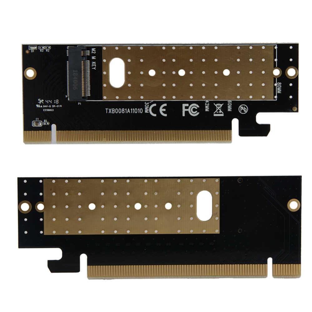 ホット販売 M.2 NVMe SSD アダプタの pcie 3.0 × 16 メートルコントローラカードキーインタフェースサポートの Pci Express 3.0