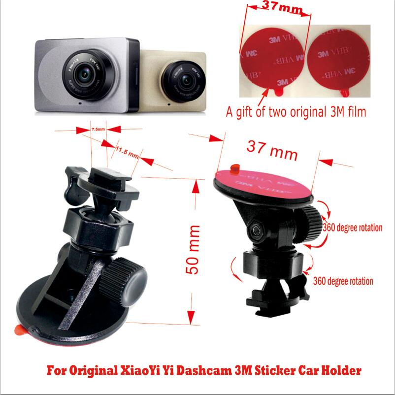 Original for Xiaomi Yi car holder bracket 3M sticker install firmly 360 degree rotation Fits