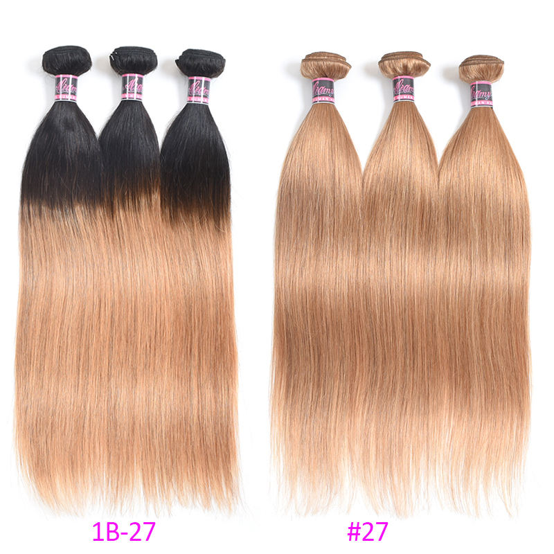 Lucky Queen Hair Products Brasilian Straight Human Hair Weaves 1 - Mänskligt hår (svart) - Foto 3