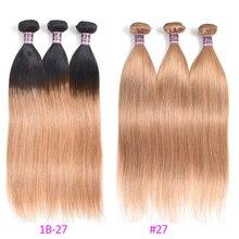 Повезло Королева Волос Продукты Бразильские Прямые Человеческие Волосы Плетет 1 Пучок 10-28 Дюймов