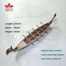 China Dragon Boat Wooden Assembly Simulation Model Ten Paddle Sailing Boat Model Kits DIY Puzzle Toys