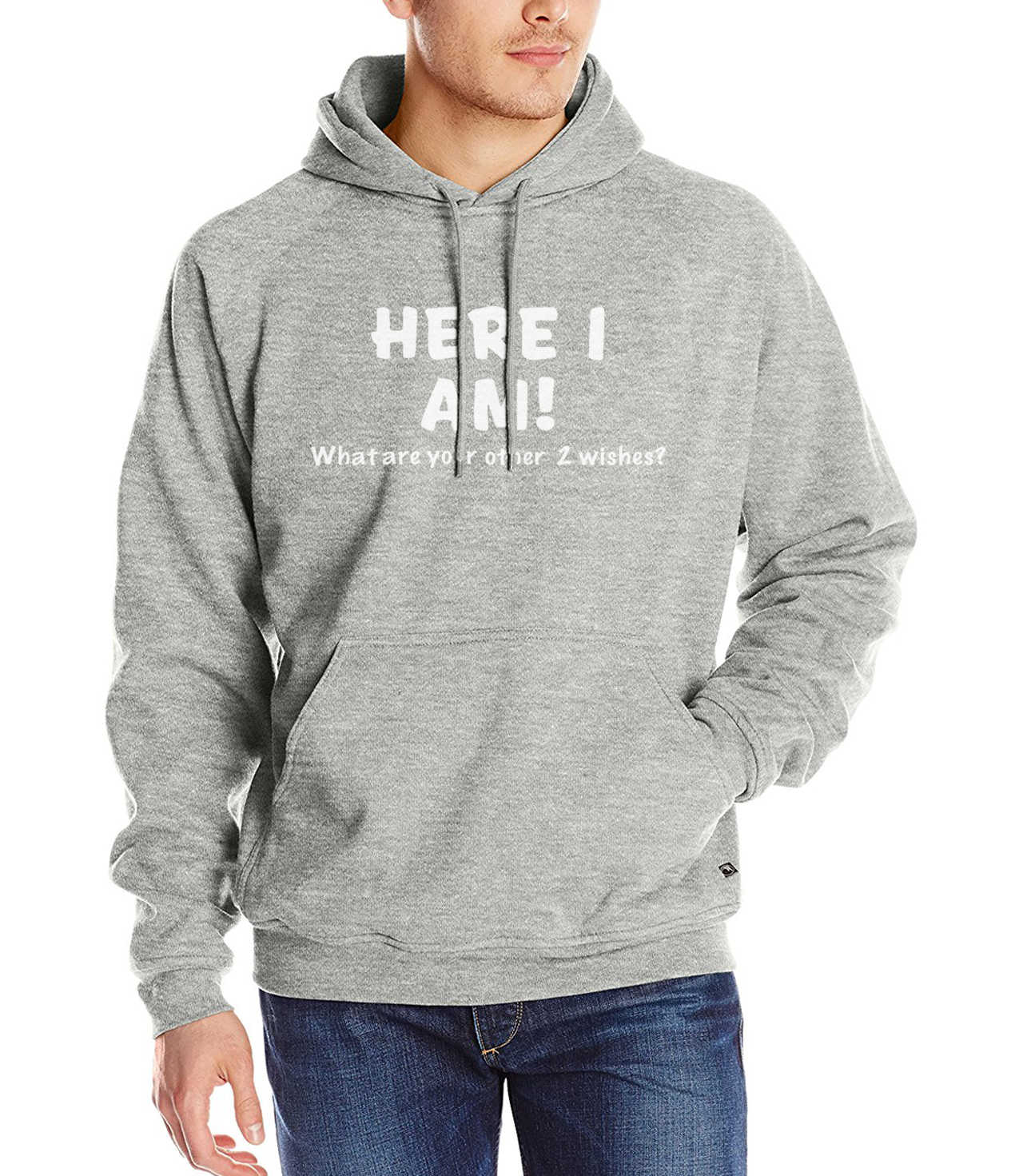 Here I Am What Are Your Other 2 Wishes 2019 men funny kpop sweatshirts autumn winter fleece casual hoodies harajuku pp tracksuit