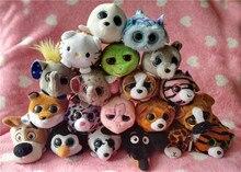 New Ty Teeny Tys Stuffed Animals Fox Owl Giraffe Raccoons For Girls Smartphone Cleaner Kids Stuffed Toys Children Gifts 10-12CM