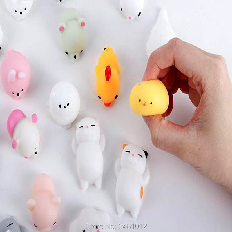Kawaii Mochi Squishes Cat Antistress Shark octopus Animal Squishy Squeeze Anti-stress Fun Toys Slow Rising Squishies Funny Toy ...