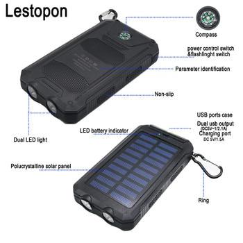 Solar Waterproof Power Bank 20000 mAh 3