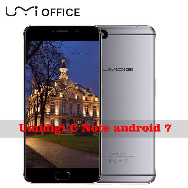 Umidigi C Note Android 7.0 Metal Smartphone Fingerprint Mobile Phone MTK MT6737T 3GB RAM 32GB ROM 3800Mah Auto-focus 4G Phone