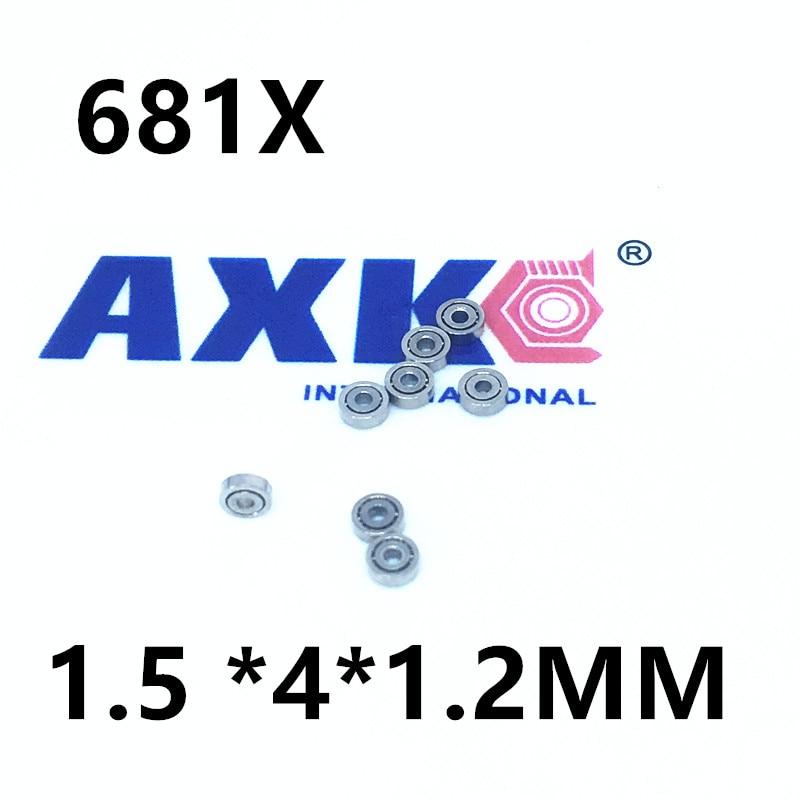 681XZZ 681X 681 L415ZZ deep groove ball bearing 1.5x4x2mm miniature bearing 1.5*4*2mm full complement 681 681zz deep groove ball bearing 1x3x1mm miniature bearing 1 3 1mm full complement
