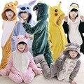 Дети Животных Пижамы пикачу стежка пижамы Onesies ребенок Косплей Костюм Унисекс халат детская одежда Мальчики Девочки Фланель Пижама