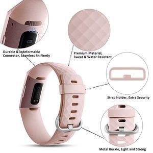 Image 2 - 12 ألوان أسورة ساعة ذكية ل Fitbit تهمة 3 4 حزام الرياضة استبدال الملحقات ل fitbit الفرقة correa ل fitbit charge3 4